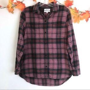 Madewell Flannel Nano Plaid Ex Boyfriend Shirt S